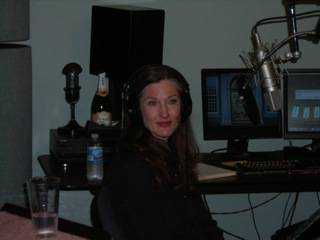 Annette O'Tool recording an interview for Hollywood 360 at Cerny American Creative studios