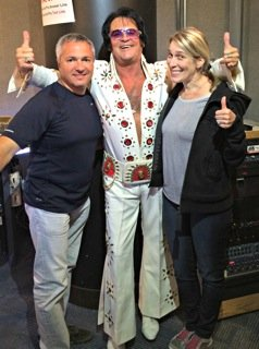 Carl, Elvis and Lisa at the H360 studios