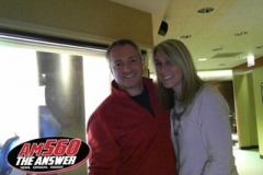 Carl and Lisa in the AM 560 WIND-The Answer studios