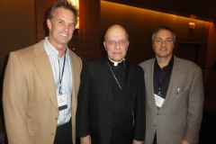 Mike Stark, Cardinal George and Carl at a Catholic convention promoting the Truth & Life Catholic audio Bible