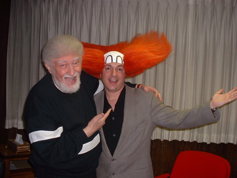 Carl with Larry Harmon, producer of BOZO'S CIRCUS