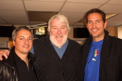 Carl, Brian Mason of the Brian Mason radio show and Jim Caviezel.  Jim and Carl were on the road promoting the WORD OF PROMISE audio Bible.