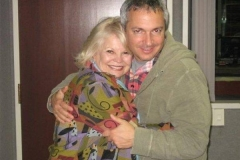 Carl with one of his favorite ladies, Kathy Garver