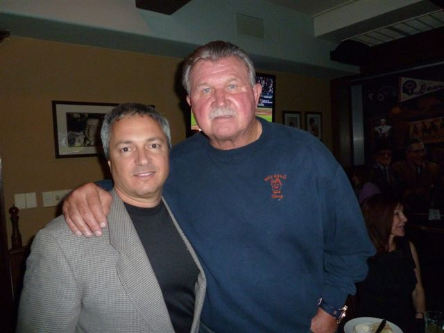 Carl with the one and only, Mike Ditka