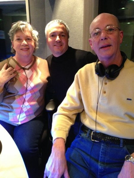 Ruth Kurtz, Carl and Jim Kurtz just after Ruth beat Carl at
