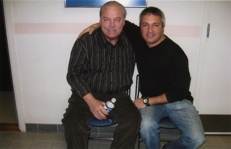 Carl with his close friend Stacy Keach