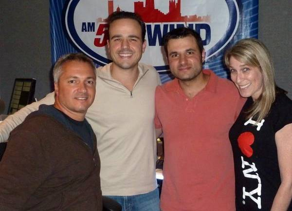Carl, Sal Becovic, Kevin Abud and Lisa